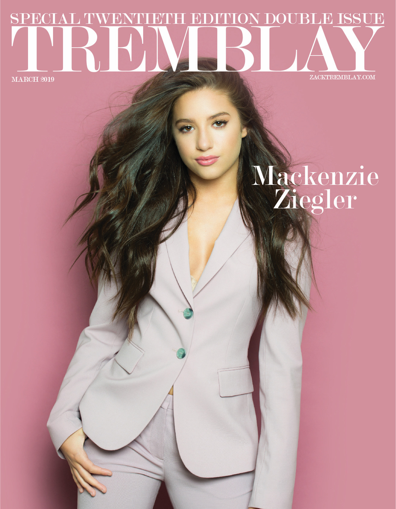 Kenzie on the cover of Tremblay Magazine! - Ziegler Girls